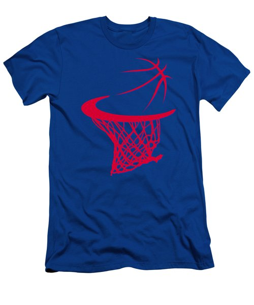 Clippers Basketball Hoop Men's T-Shirt (Slim Fit) by Joe Hamilton