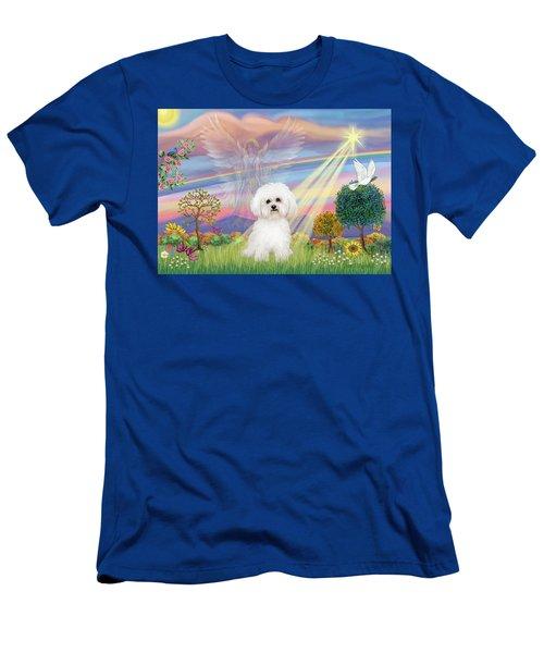 Cloud Angel And Bichon Frise Men's T-Shirt (Athletic Fit)
