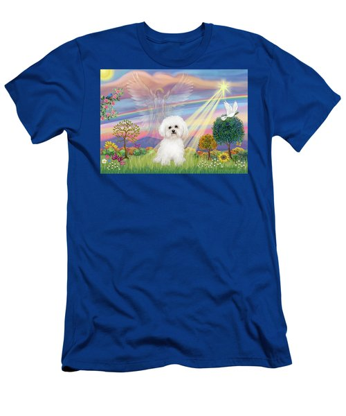 Cloud Angel And Bichon Frise Men's T-Shirt (Athletic Fit)