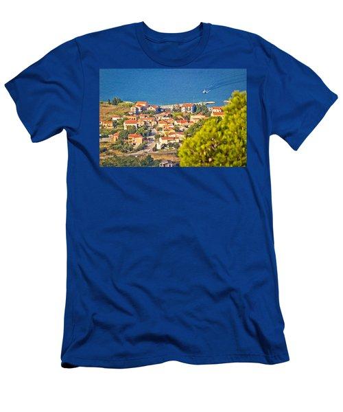 Coastal Village On Island Of Pasman Men's T-Shirt (Athletic Fit)
