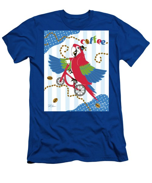 Coffee Parrot Men's T-Shirt (Athletic Fit)