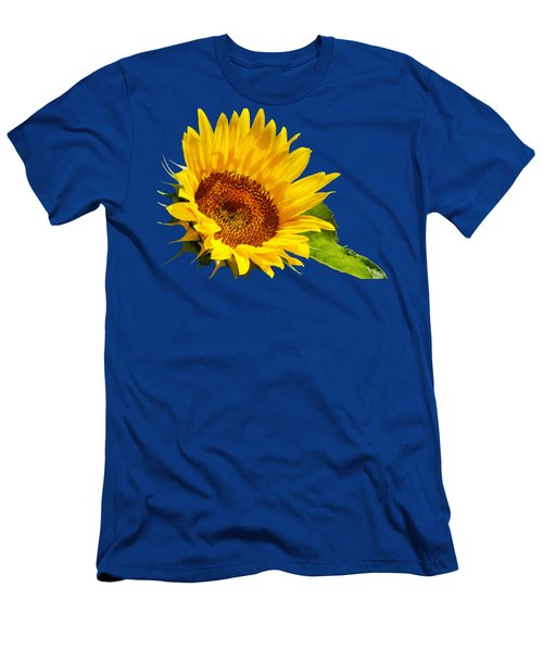 Color Me Happy Sunflower Men's T-Shirt (Slim Fit) by Christina Rollo