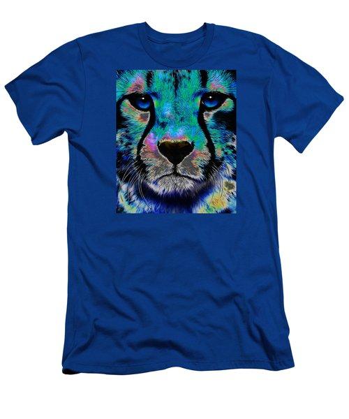 Colorful Cheetah Men's T-Shirt (Athletic Fit)