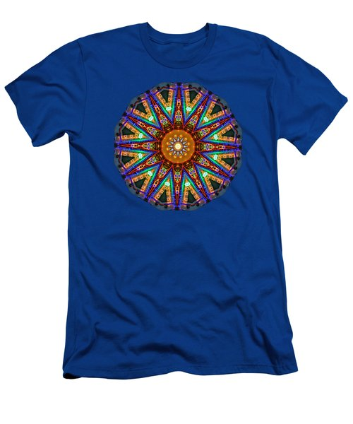Colorful Christmas Kaleidoscope By Kaye Menner Men's T-Shirt (Athletic Fit)