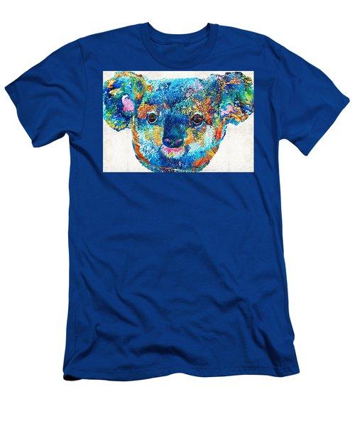 Colorful Koala Bear Art By Sharon Cummings Men's T-Shirt (Slim Fit) by Sharon Cummings