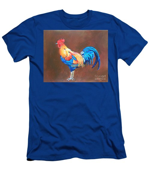Colorful Rooster Men's T-Shirt (Athletic Fit)