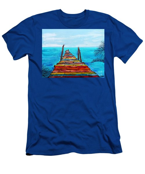 Colorful Tropical Pier Men's T-Shirt (Athletic Fit)