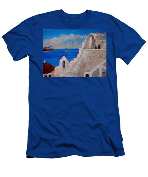 Colors Of Greece Men's T-Shirt (Athletic Fit)