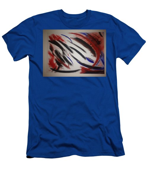 Men's T-Shirt (Slim Fit) featuring the painting Abstract Colors by Sheila Mcdonald