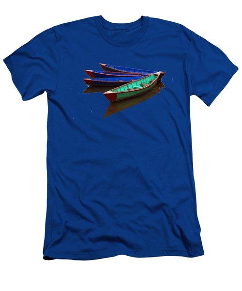 Colourful Fishing Boats  Men's T-Shirt (Slim Fit) by Aidan Moran