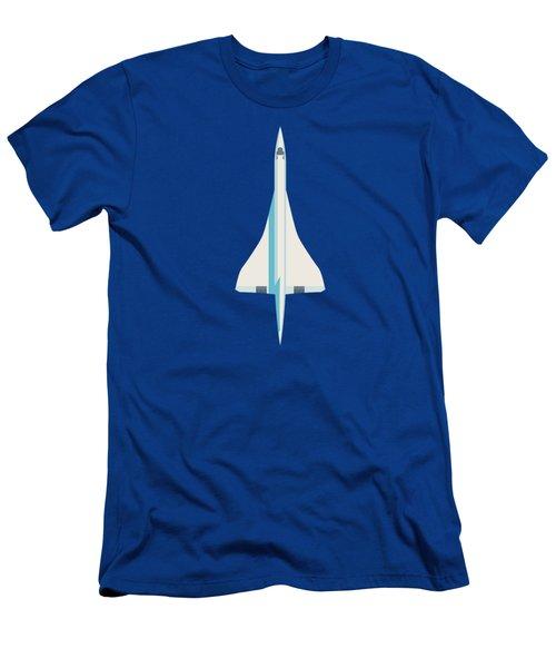 Concorde Jet Airliner - Blue Men's T-Shirt (Slim Fit)