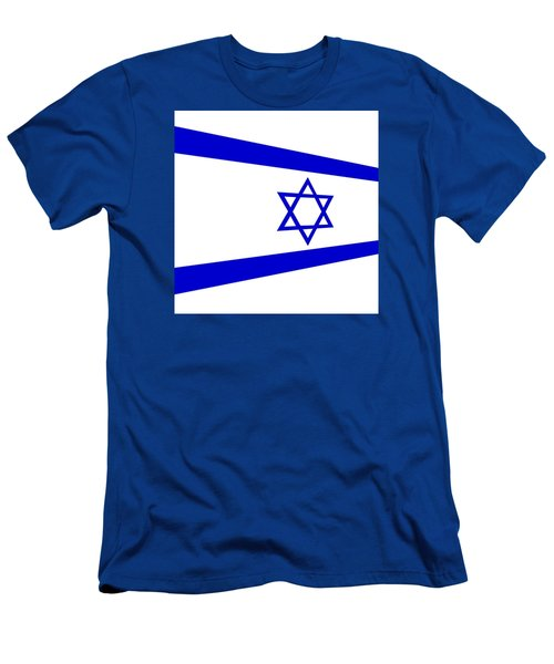 Contemporary Flag Of Israel Men's T-Shirt (Athletic Fit)