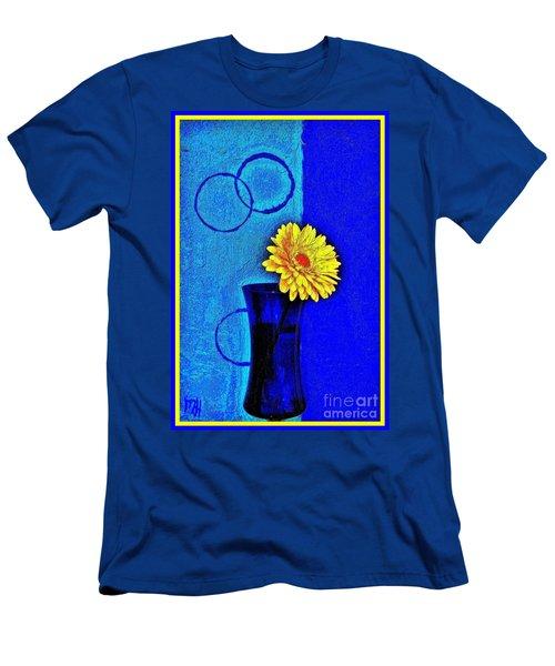 Men's T-Shirt (Slim Fit) featuring the photograph Contemporary Gerber by Marsha Heiken
