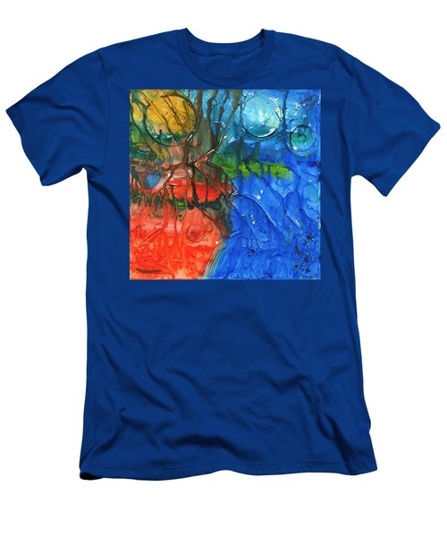 Continental Divide Men's T-Shirt (Slim Fit) by Phil Strang