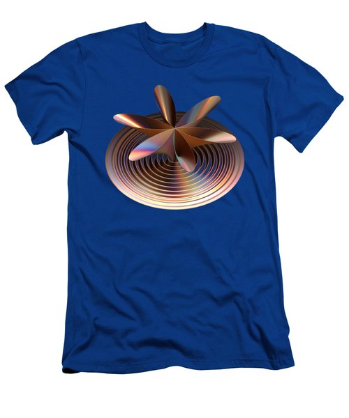 Copper Tones Men's T-Shirt (Slim Fit) by Linda Phelps