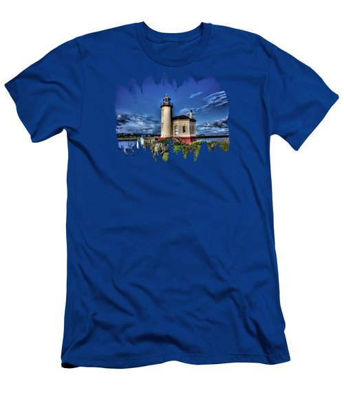 Coquille River Lighthouse Men's T-Shirt (Slim Fit) by Thom Zehrfeld
