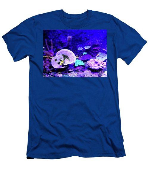 Men's T-Shirt (Athletic Fit) featuring the digital art Coral Art by Francesca Mackenney