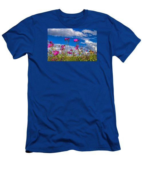 Cosmos Sky Men's T-Shirt (Slim Fit) by Alana Thrower