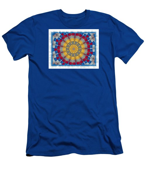 Men's T-Shirt (Slim Fit) featuring the photograph Country Quilt Wheel by Shirley Moravec