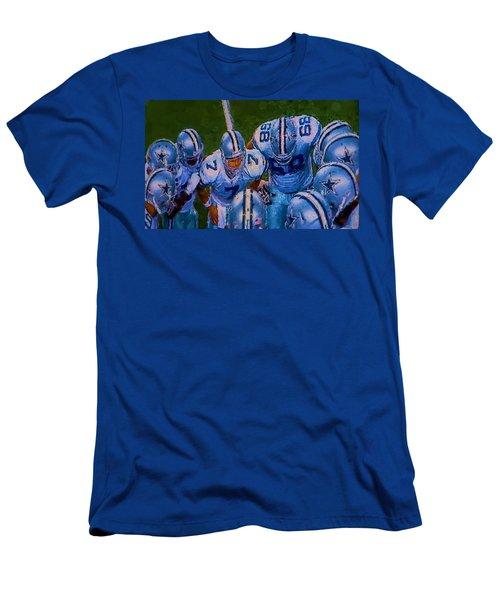 Cowboy Huddle Men's T-Shirt (Athletic Fit)