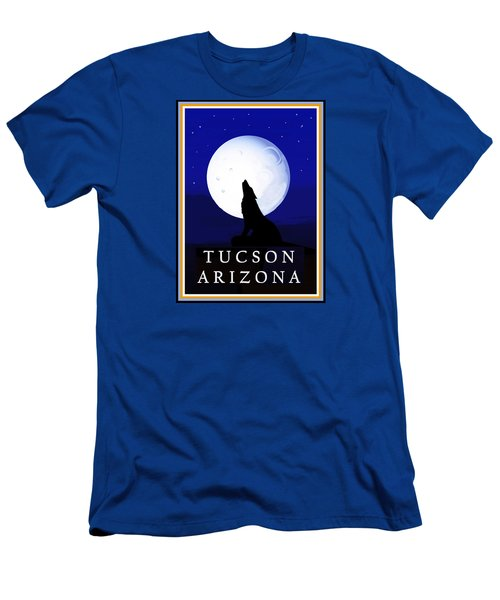 Men's T-Shirt (Athletic Fit) featuring the digital art Coyote Moon - Tucson, Arizona by Vagabond Folk Art - Virginia Vivier