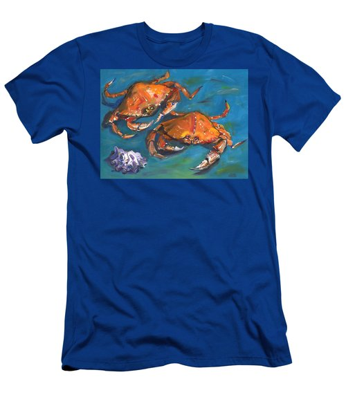 Men's T-Shirt (Slim Fit) featuring the painting Crabs by Susan Thomas