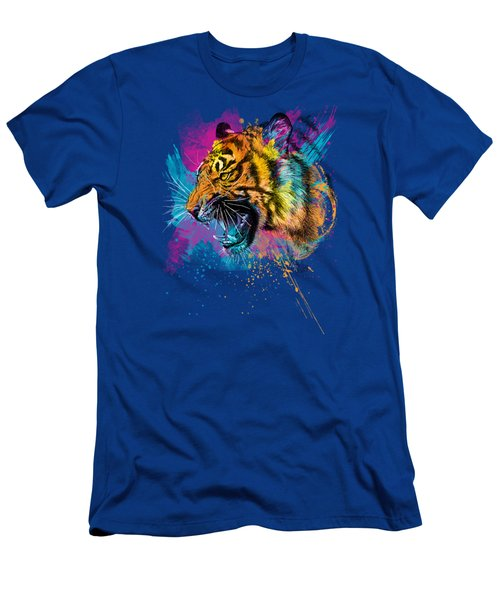 Crazy Tiger Men's T-Shirt (Athletic Fit)