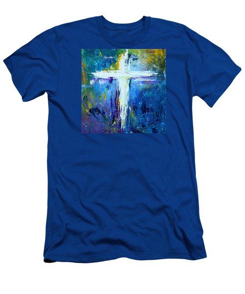 Cross - Painting #4 Men's T-Shirt (Slim Fit) by Kume Bryant