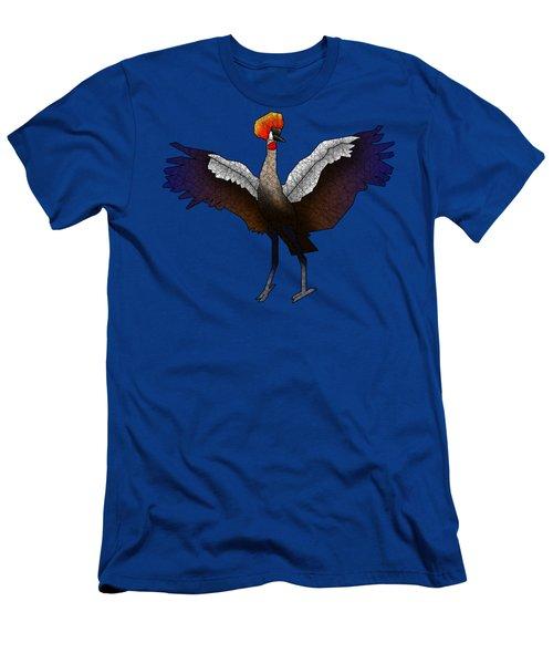 Crowned Crane Men's T-Shirt (Slim Fit) by Dusty Conley