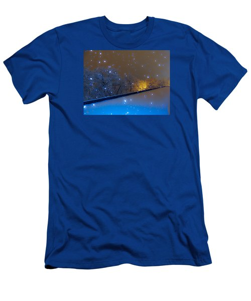 Crystal Falls Men's T-Shirt (Slim Fit) by Glenn Feron