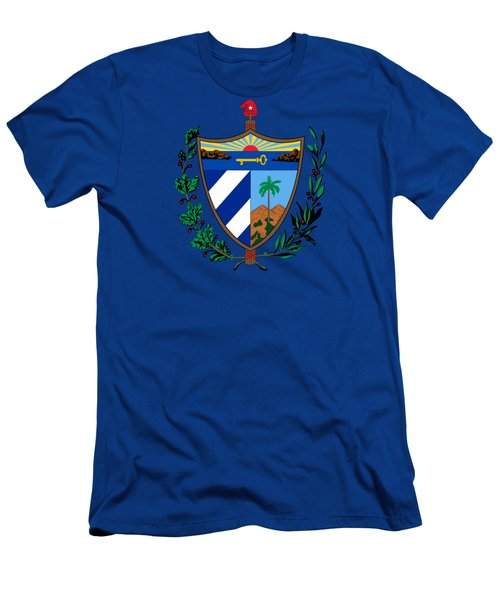 Cuba Coat Of Arms Men's T-Shirt (Athletic Fit)