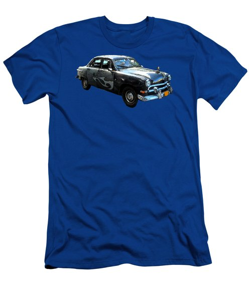 Cuba Taxi Art Men's T-Shirt (Athletic Fit)