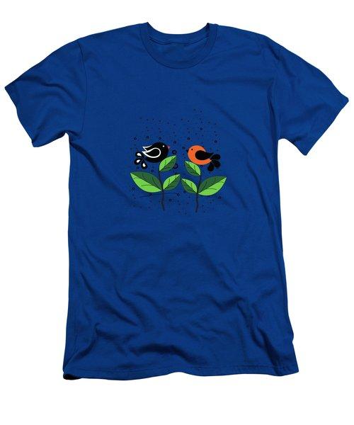 Cute Birds Men's T-Shirt (Athletic Fit)