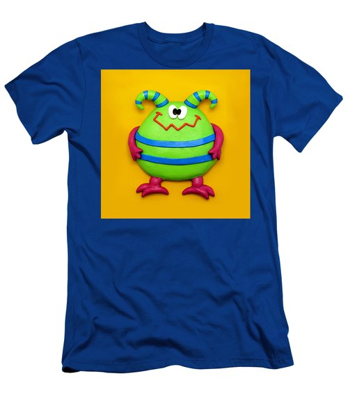 Cute Green Monster Men's T-Shirt (Athletic Fit)