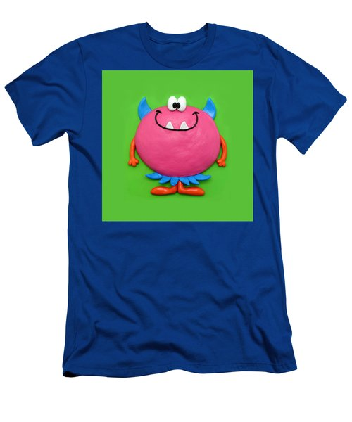 Cute Pink Monster Men's T-Shirt (Athletic Fit)