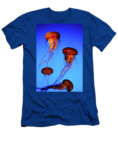Men's T-Shirt (Slim Fit) featuring the photograph Dancing Jellyfish by Anthony Jones