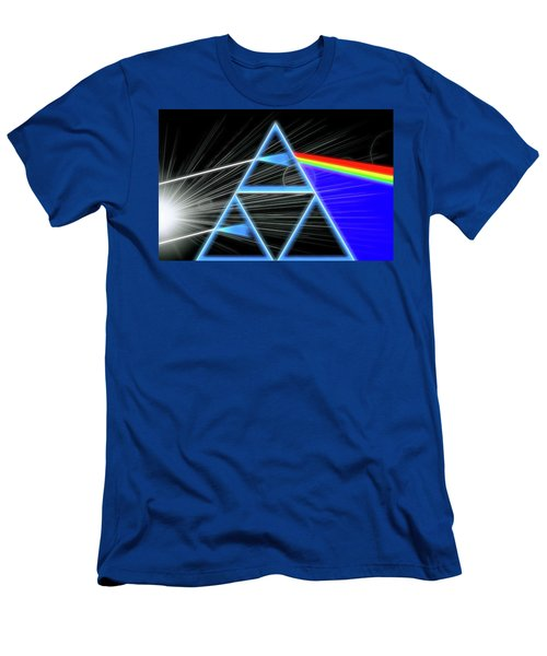 Men's T-Shirt (Slim Fit) featuring the digital art Dark Side Of The Moon by Dan Sproul