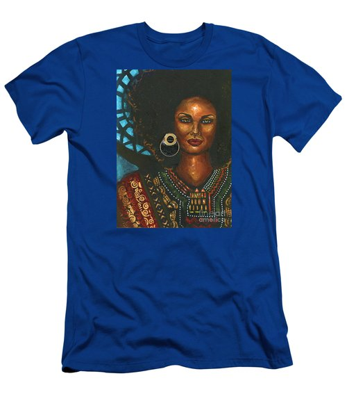 Men's T-Shirt (Slim Fit) featuring the painting Dashiki by Alga Washington