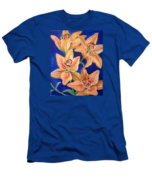 Day Lilies Men's T-Shirt (Slim Fit) by Laura Aceto