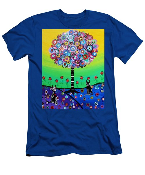 Day Of The Dead Cat'slife Men's T-Shirt (Athletic Fit)