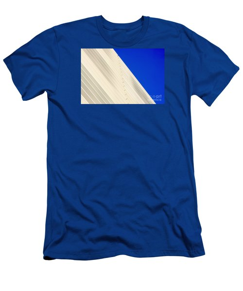 Deep Blue Sky And Office Building Wall Men's T-Shirt (Athletic Fit)