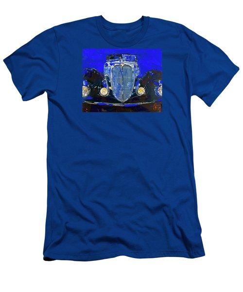 Delahaye Vintage Car Blue Men's T-Shirt (Slim Fit) by Walter Fahmy