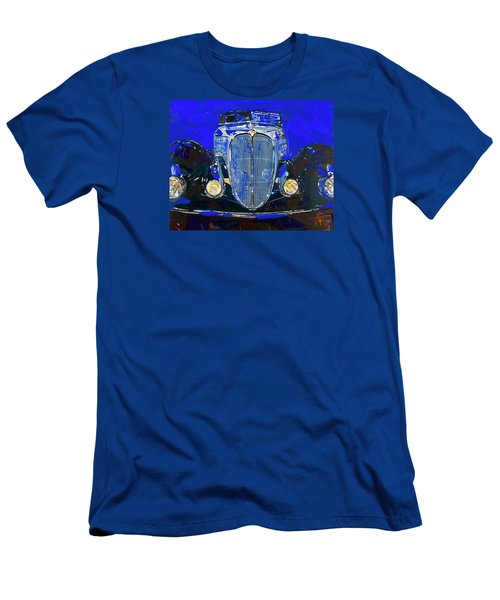 Delahaye Vintage Car Blue Men's T-Shirt (Slim Fit)
