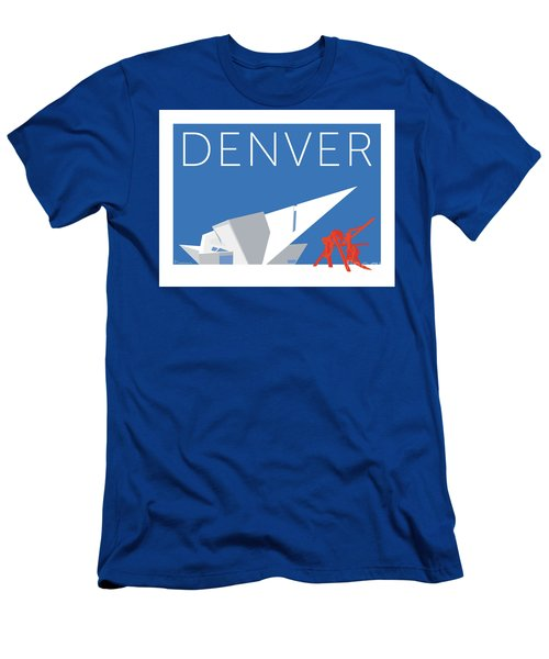Men's T-Shirt (Athletic Fit) featuring the digital art Denver Art Museum/blue by Sam Brennan