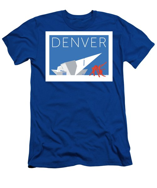 Denver Art Museum/blue Men's T-Shirt (Athletic Fit)