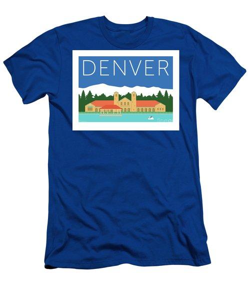 Denver City Park/blue Men's T-Shirt (Athletic Fit)