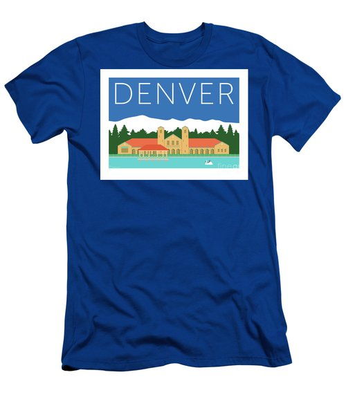 Denver City Park/blue Men's T-Shirt (Athletic Fit)
