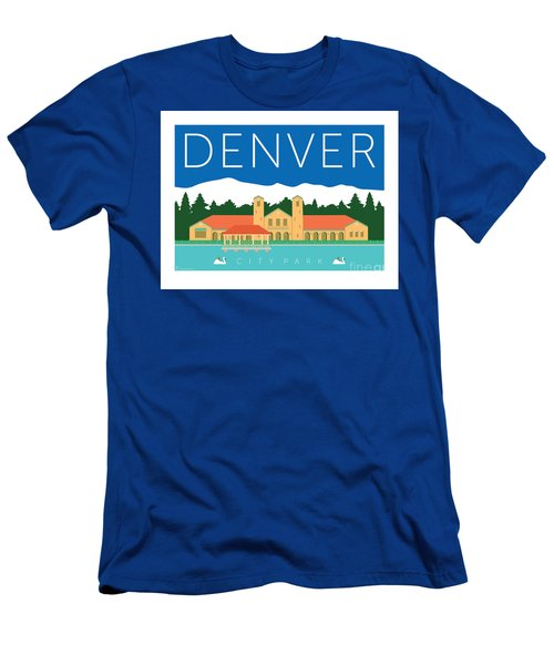 Men's T-Shirt (Athletic Fit) featuring the digital art Denver City Park by Sam Brennan