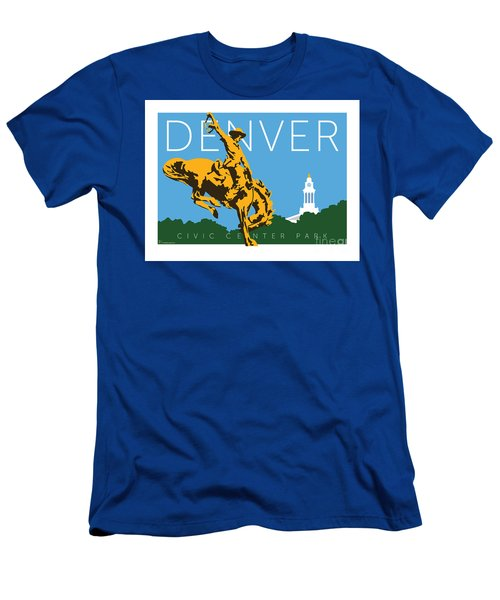 Men's T-Shirt (Athletic Fit) featuring the digital art Denver Civic Center Park by Sam Brennan