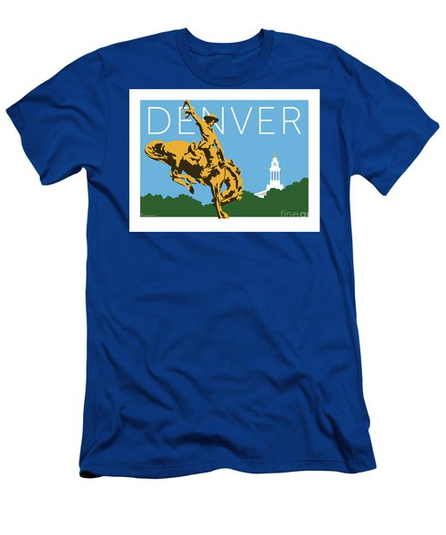 Denver Cowboy/sky Blue Men's T-Shirt (Athletic Fit)